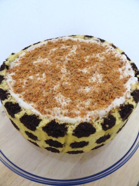 Joconde Kahlua Mousse Cake;