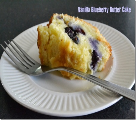 vanilla blueberry butter cake