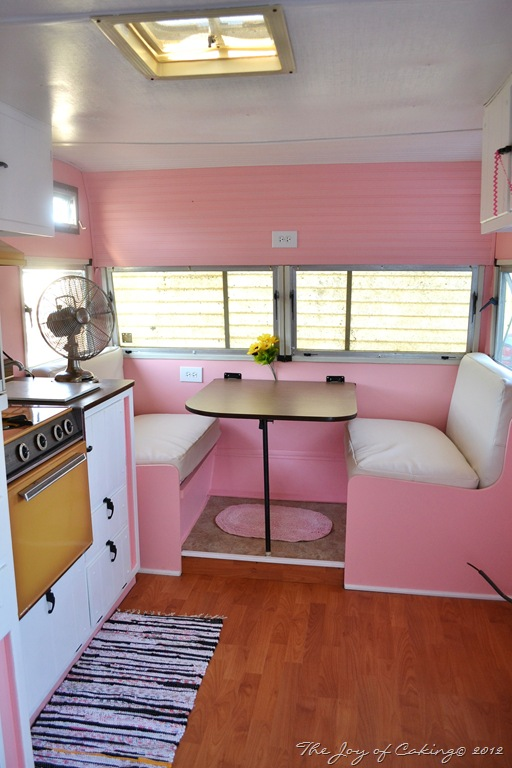 Vintage camper pink paradise update 3 the joy of caking for L interieur trailer