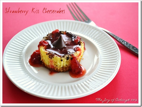 Strawberry Kiss Cheesecakes