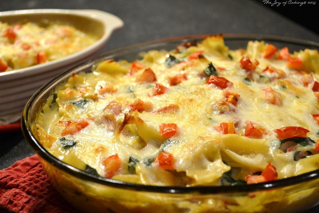 Ham and pasta casserole for Creamy spinach pasta bake