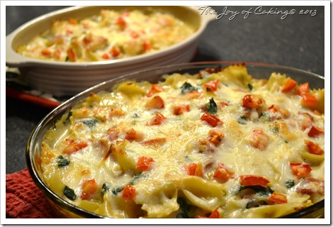 Ham, Spinach, and Pasta Casserole