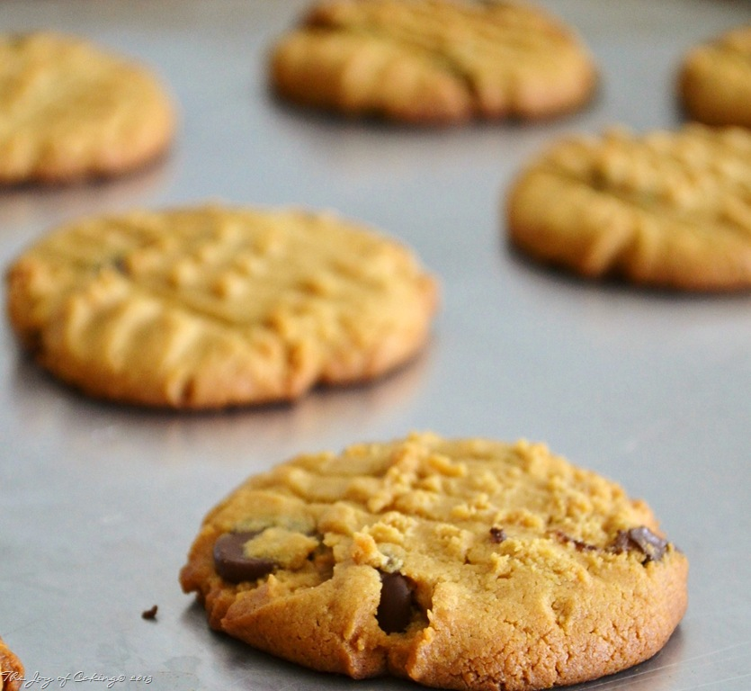 Peanut Butter Chocolate Chip Cookies–No Fuss; No Flour | THE JOY OF ...