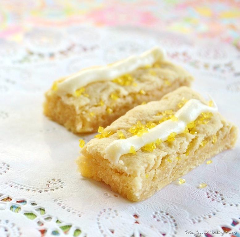 Lemon Iced Shortbread Cookie Bars | THE JOY OF CAKING