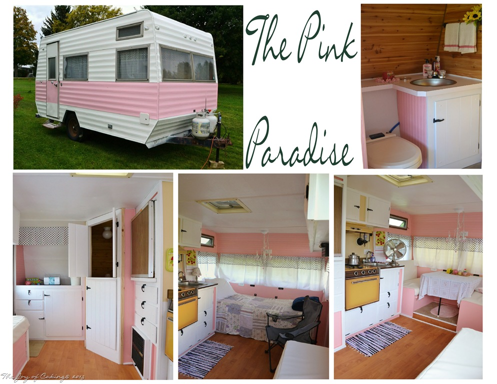 Vintage Camper Remodel THE JOY OF CAKING - Travel trailer bathroom remodel