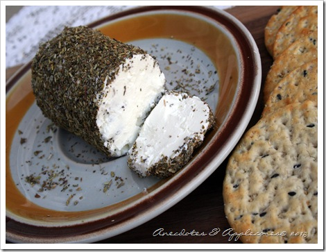 Goat Cheese with Herbes de Provence v1 (Anecdotes & Applecores)